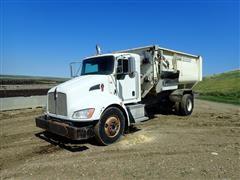 2008 Kenworth T300 S/A Feed Mixer Truck W/Roto-Mix 524-15B