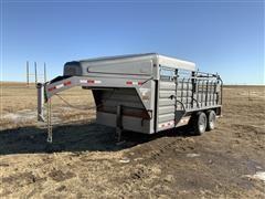 2013 GR Trailers T/A Gooseneck Livestock Trailer