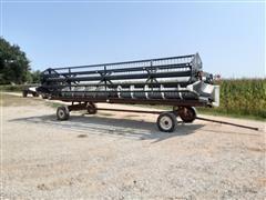 2000 Gleaner 800 Series 25' Grain Platform W/Header Trailer