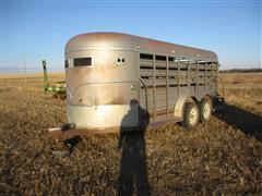 1989 W-W T/A Bumper-Pull Livestock Trailer