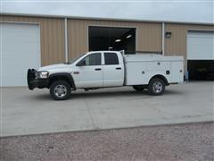 2009 Dodge Ram 3500 Heavy Duty 4x4 Quad-Cab Service Truck