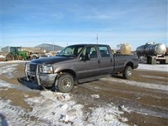 2002 Ford F250 XLT Super Duty 4WD Long Box Crew Cab Pickup