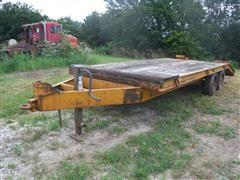 1979 Belshe 15 1/2' Flatbed Dovetail Trailer W/Flipover Ramps
