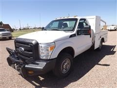2011 Ford F350 4x4 Service Pickup W/front Winch And Spool Rack