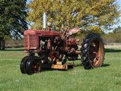 1952 Farmall Super C Tractor W/Woods 59 Belly Mower