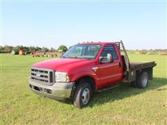 2005 Ford F350 XL Super Duty 4WD Flatbed Dually Pickup