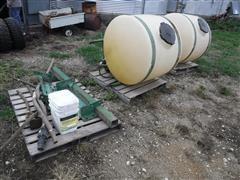 John Deere 220 200-Gal Saddle Tanks W/Brackets
