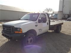 2000 Ford F550 2WD Flatbed Dually Pickup