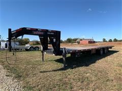 2015 Finish Line DOH20 D/T/A Flatbed Trailer W/Hydraulic Dovetail