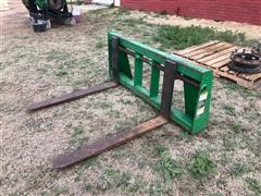 John Deere Front End Loader Quick Attach Pallet Forks