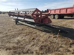 International 810 24' Rigid Platform Header & Trailer