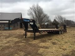 2014 Top Hat GN-OTW Low Profile T/A Flatbed Trailer