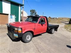 1996 Ford F150 4x4 Flatbed Pickup Truck Bigiron Auctions