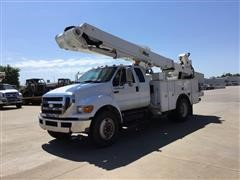 2008 Ford F750 Extended Cab Bucket Truck