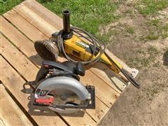 DEWALT & Skilsaw Grinder & Saw