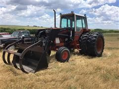 International 1486 2WD Tractor W/760 GB Loader