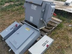 Siemens Series H Dry Transformer W/4 Switches & Breaker Panel