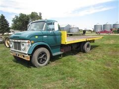 1968 Ford 700 Flatbed Truck W/Winch
