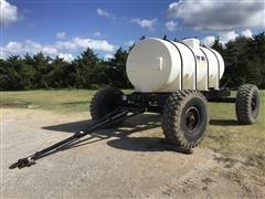 Wylie Steerable Nurse Trailer W/1600 Gallon Tank