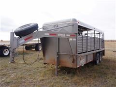 2014 Coose 6'x16' Gooseneck Livestock Trailer