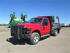 2009 Ford F-350 XL Super Duty 4X4 Flatbed Pickup With DewEze Bale Bed