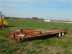 2005 Eager Beaver 20XPT Pintle Hitch T/A Flatbed Trailer