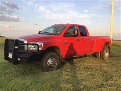 2008 Dodge Ram 3500HD Big Horn Edition 4-Door Diesel Dually 4WD Pickup