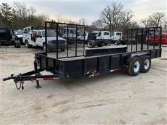 2010 BARR E4X6T T/A Flatbed Landscaping Trailer