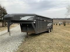 1995 Diamond D 7x20 T/A Livestock Trailer