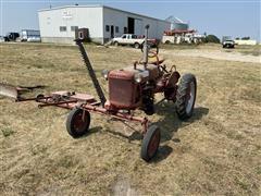 1949 International McCormick Farmall Cub Tractor W/Attachments