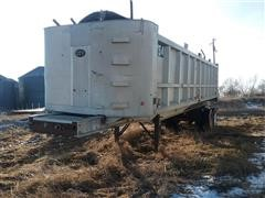 1983 City Welding T/A Aluminum End Dump Trailer
