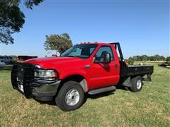 2002 Ford F350 XLT Super Duty 4x4 Flatbed Pickup