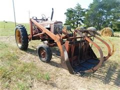 1945 International Farmall M 2WD Tractor W/Loader