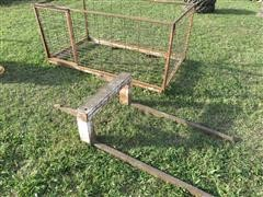 International Harvester 2-Pt Hitch Bale Mover W/Livestock Cart