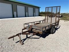 "Shop Built 10'5"" X 68"" S/A Utility Trailer"