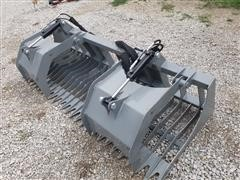 "2020 Hawz Skid Steer Mount 84"" Rock Grapple"