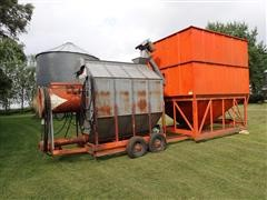 Farm Fans AB-8 Grain Dryer W/1400 Bushel Lowry Holding Bin