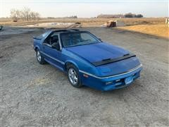 1988 Dodge Daytona Shelby Z T-Top Car