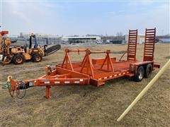 2003 Rice T/A Flatbed Trailer