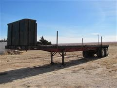 1977 Hobbs T/A Flatbed Float Trailer