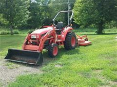 2010 Kioti CK35 Compact Utility Tractor W/Loader & Shredder