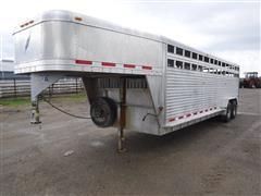 2001 Featherlite 24' Aluminum T/A Livestock Trailer