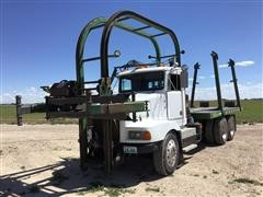 1990 Kenworth T400A Hay Mantis T/A Stacker Truck
