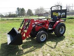 2015 Mahindra 25404FSIL MFWA Compact Utility Tractor W/Loader