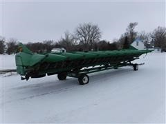 2010 John Deere 612C 12RN Chopping Corn Head W/HT30 Trailer