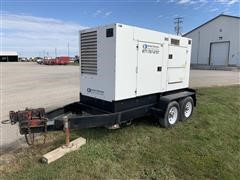 2005 Multiquip Whisperwatt DCA-125USJ Diesel Powered 125 KVA Generator On T/A Trailer