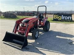 2015 Mahindra 1533 4WD Compact Utility Tractor W/Loader