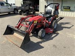 2017 Mahindra EMax 22S 4WD Compact Utility Tractor W/Backhoe, Loader & Mower