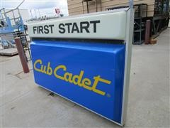 Cub Cadet First Start Lighted Sign In Aluminum Frame