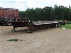 1987 Muv-All 4850LT T/A Fixed Neck Lowboy Trailer